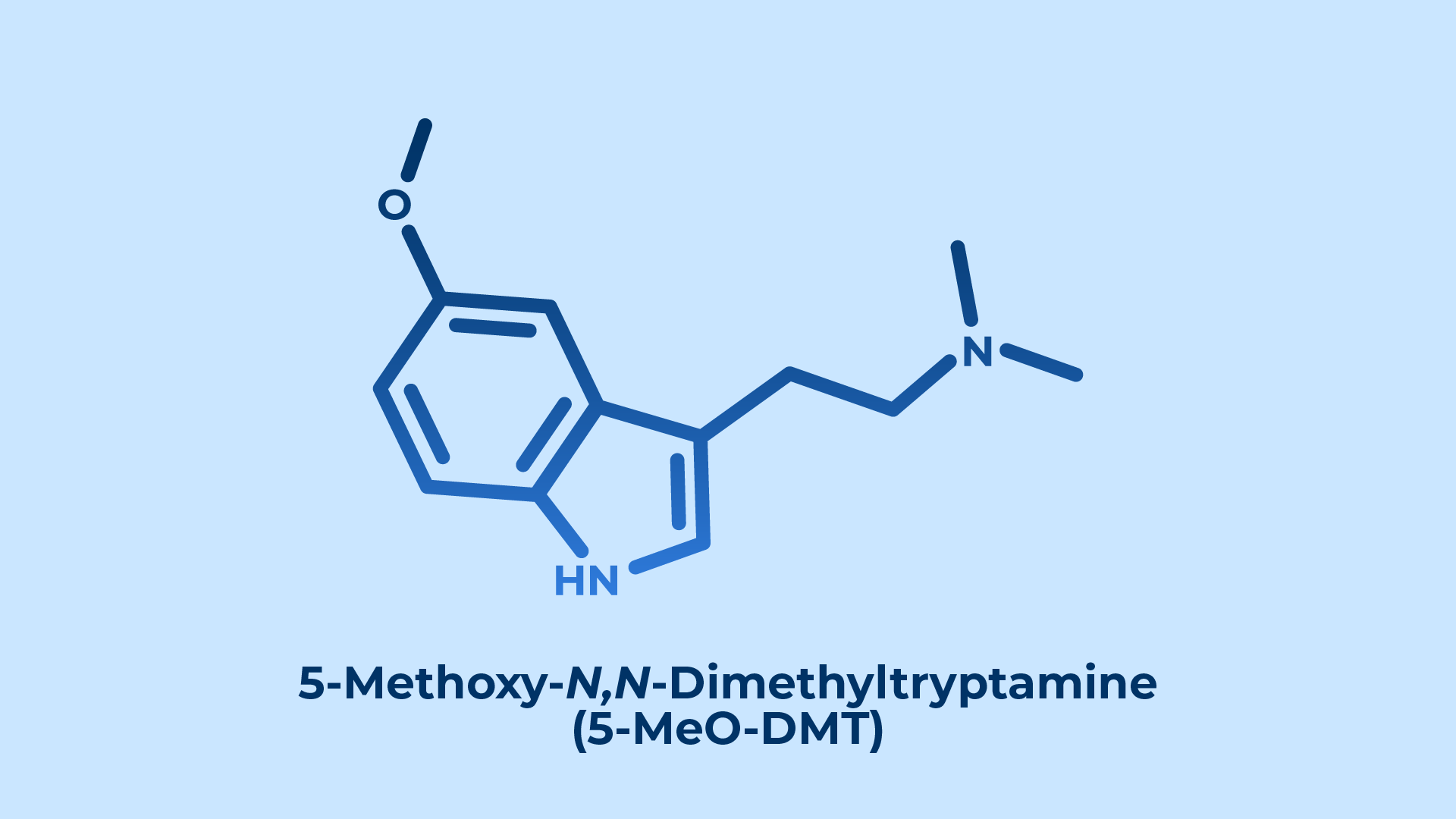 5-MeO-DMT Molecule and Chemical Structure
